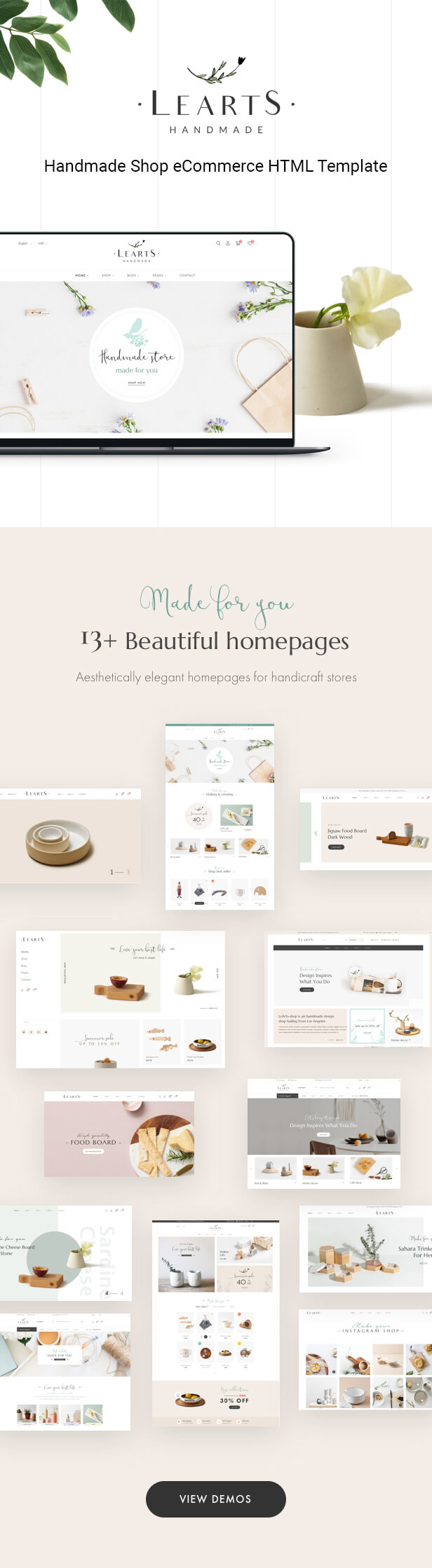 Learts – The Best Handmade Shop Shopify Theme